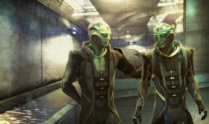 """""""Thane and Kolyat, Happy. Synthesis Version."""" by Brinx-ii"""