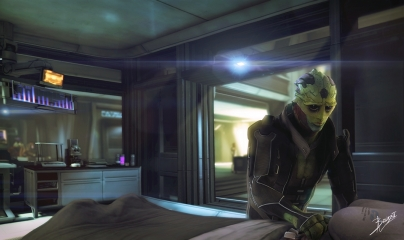 """""""Thane and Shepard in the Hospital"""" by Brinx-ii"""